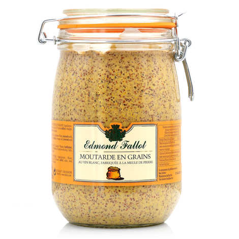 Fallot - Moutarde en grains Edmond Fallot en bocal Le Parfait 1.1kg