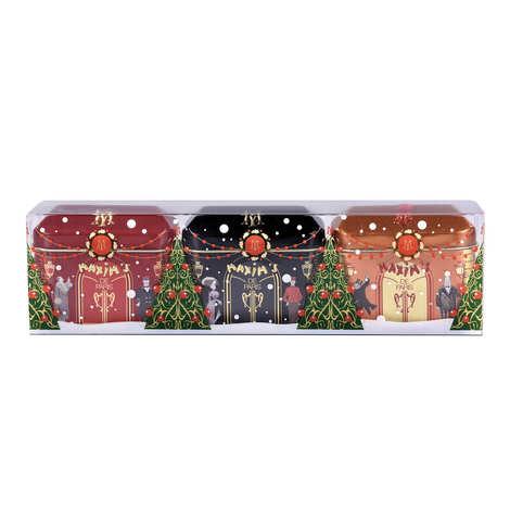 Maxim's de Paris - 3 mini houses rocks Christmas