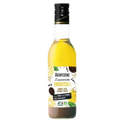Quintesens - Vinaigrette bio sésame yuzu Shokutsu 100% naturelle sans émulsion