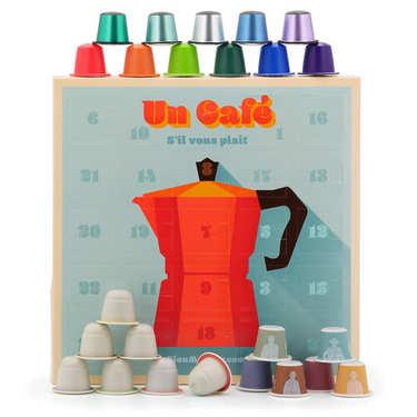 Coffret cadeau 24 capsules de cafés bio pour Nespresso®