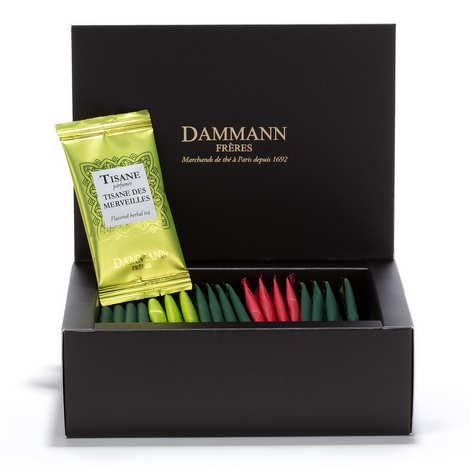 Dammann frères - Assortiment de 20 sachets Cristal de mélanges aromatisés et tisane  - Topaze