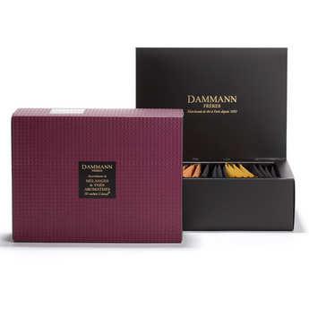 Dammann frères - Assortiment de 20 sachets Cristal pour infusion et thés aromatisés - Grenat