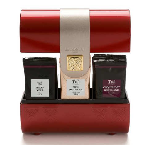 Dammann frères - Coffret thé collection rouge - Pourpre