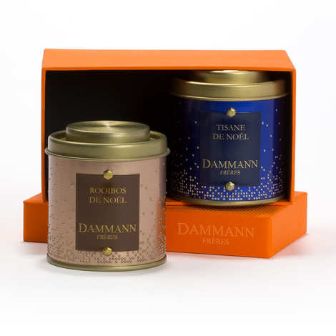Dammann frères - Coffret Noël gourmand - 2 infusions assorties