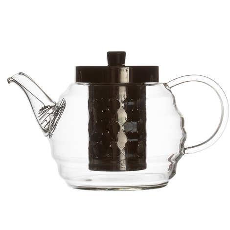 Dammann frères - Vague - théière verre cannelée avec filtre inox (0.9L)
