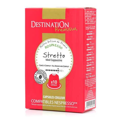 Origines Tea and Coffee - Organic Stretto coffee - Nespresso® compatible capsules - Strength 8/10