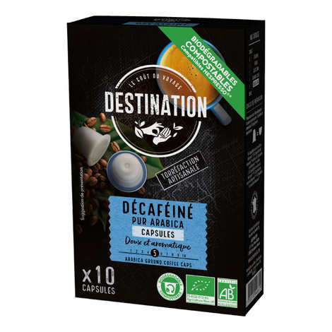 Origines Tea and Coffee - Organic deca coffee - Nespresso® compatible capsules - Strength 3/10