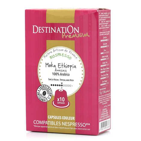 Origines Tea and Coffee - Café Moka Awasas bio, capsules compatibles Nespresso® - Force 6/10
