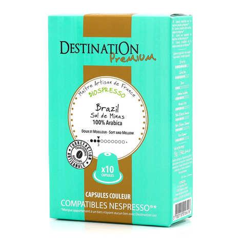 Origines Tea and Coffee - Café Brazil Sul de Minas bio, capsules compatibles Nespresso® - Force 3/10