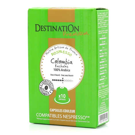 Origines Tea and Coffee - Café Colombia Kachalus bio, capsules compatibles Nespresso® - Force 6/10