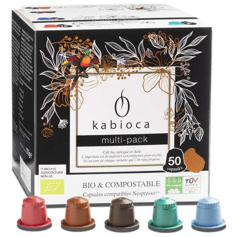 Kabioca - Multipack cafés bio et compostable, capsules compatibles Nespresso®