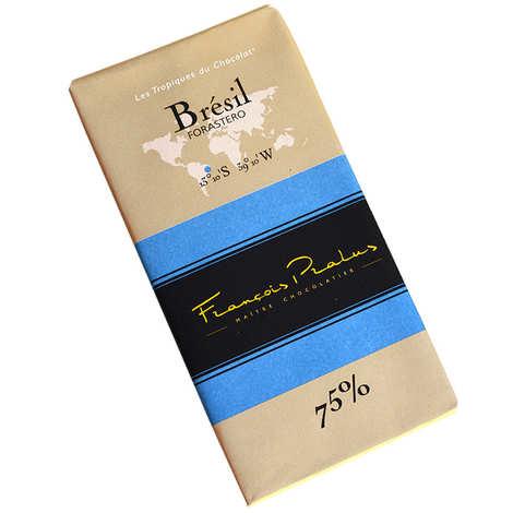 Chocolats François Pralus - Tablette chocolat noir Brésil - Forastero 75%