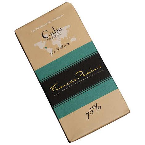 Chocolats François Pralus - Tablette chocolat noir Cuba - Trinitario 75%
