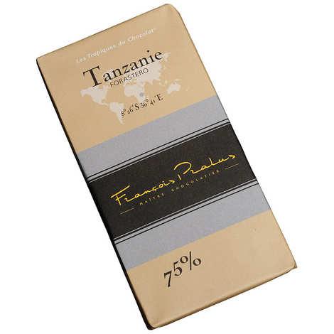 Chocolats François Pralus - Tablette chocolat noir Tanzanie - Forastero 75%