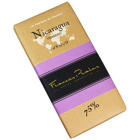Chocolats François Pralus - Tablette chocolat noir Nicaragua - Trinitario 75%