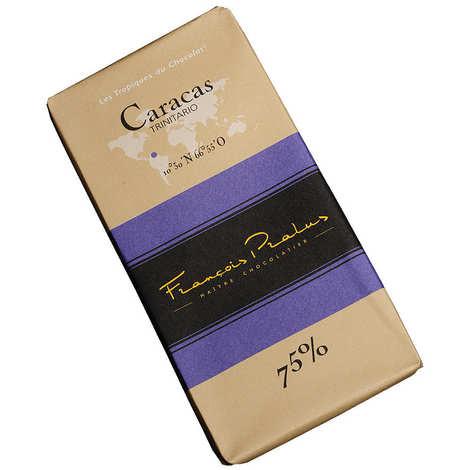 Chocolats François Pralus - Tablette chocolat noir Caracas - Trinitario & Forastero 75%