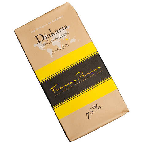 Chocolats François Pralus - Tablette chocolat noir Djakarta - Criollo& Forastero 75%