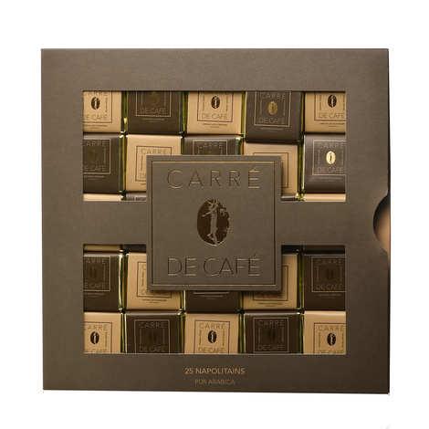 Chocolats François Pralus - Coffret napolitain carrés de café