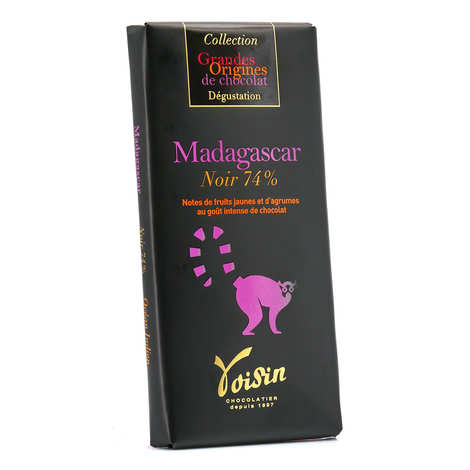 Voisin chocolatier torréfacteur - Tablette chocolat noir Madagascar 74% - Voisin