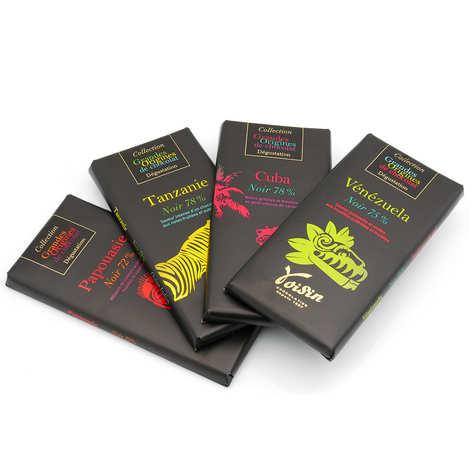 Voisin chocolatier torréfacteur - Etui 4 tablettes grande origine - Voisin