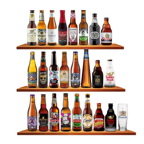 BienManger paniers garnis - Calendrier de l'avent 24 bières primées aux World Beer Awards