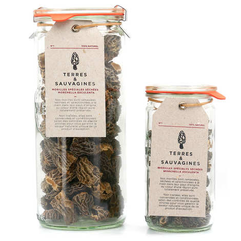 Terres & Sauvagines - Dried morels 2-4cm Special