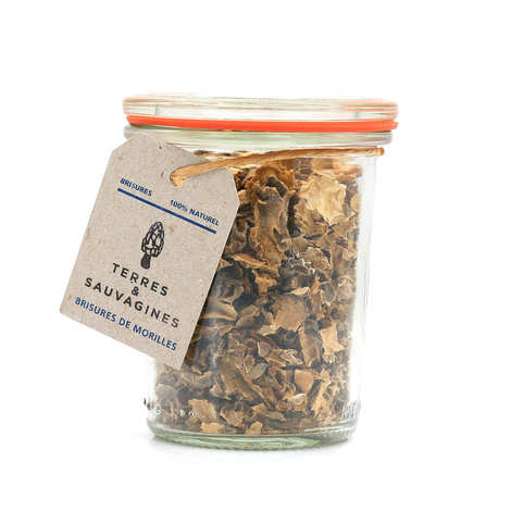 Terres & Sauvagines - Dried morel chips