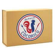 Boîte cadeau rectangle aimantée décor Cocorico