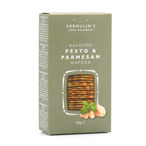 Verduijn's Fine Biscuits - Cheese Waffles - Pesto & Parmesan