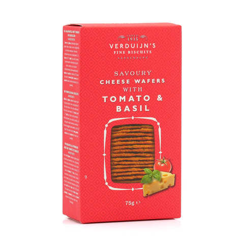 Verduijn's Fine Biscuits - Cheese Waffles - Tomato & Basil