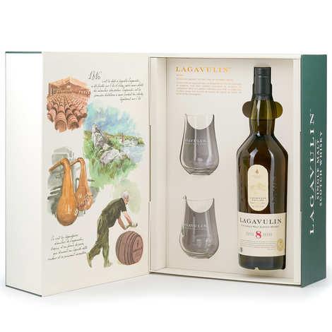 Lagavulin - Coffret cadeau Whisky Lagavulin 8 ans 2 verres