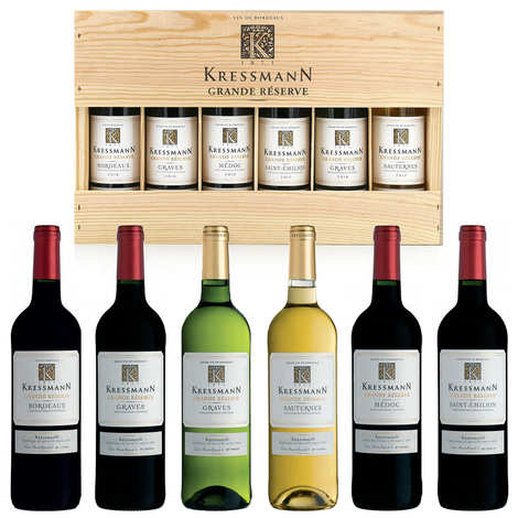 Château La Pierriere - Kressmann Grande Réserve - Wooden Box of 6 Half Bottles From Bordeaux