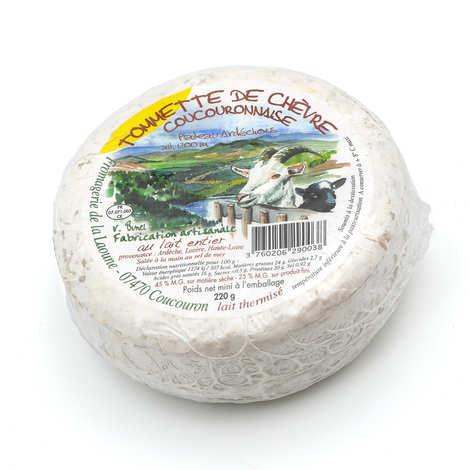 Fromagerie de la Laoune - Tommette de chèvre Coucouronnnaise de l'Ardèche 220g