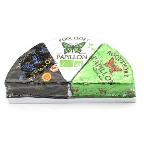 Fromageries Papillon - Trio de Roquefort Papillon - AOP