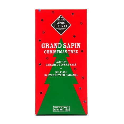 Michel Cluizel - Tablette festive Grand Sapin au chocolat au lait et caramel beurre salé