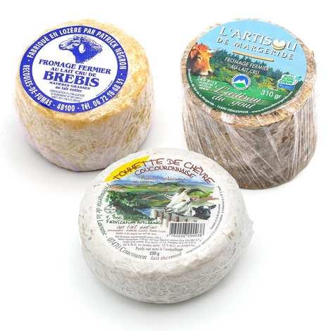- Lot 3 fromages (chèvre, brebis et vache)