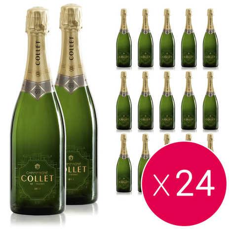 Champagne Collet - 24 bottles of Raoul Collet Vintage Champagne