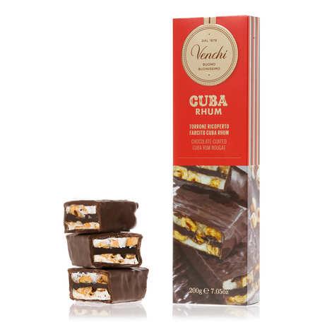 Venchi - Barre de nougat au rhum recouverte de chocolat