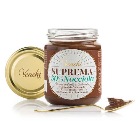 Venchi - Pâte à tartiner Suprema Gianduja - 50% de noisettes