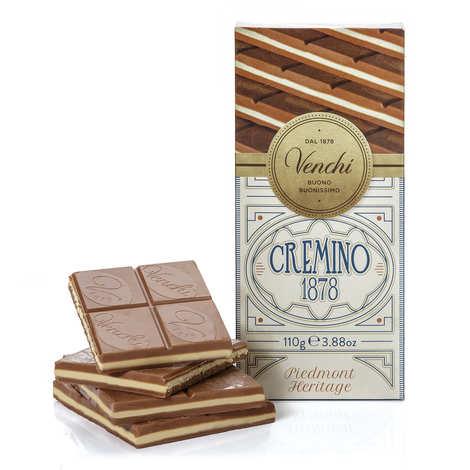 Venchi - Tablette chocolat blanc et Gianduja -  Cremino 1878