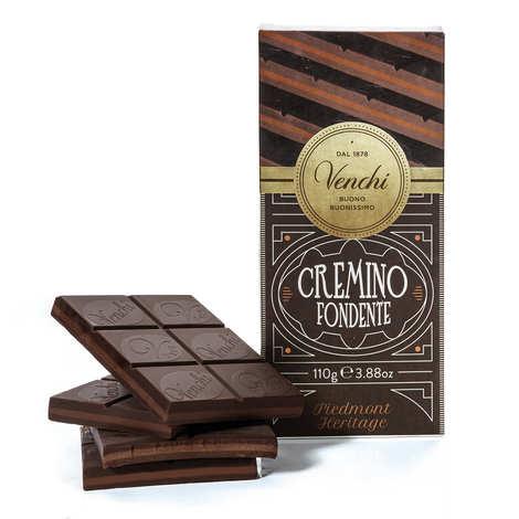Venchi - Tablette chocolat noir et Gianduja - cremino extra noir