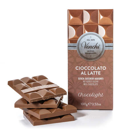 Venchi - Milk Chocolight Tablet - without sugar added
