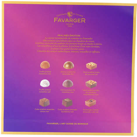 Favarger - Boîte de pralinés suisses Emotion - Favarger