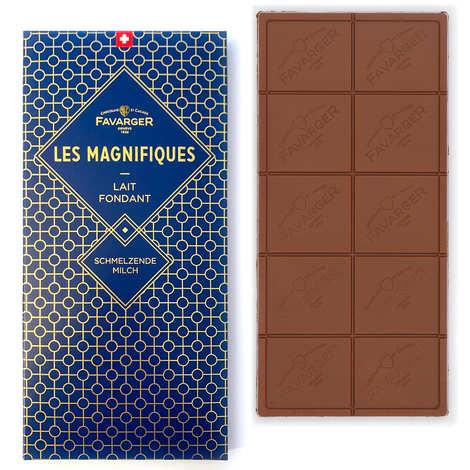 Favarger - Tablette de chocolat au lait suisse - Les Magnifiques