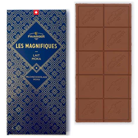 Favarger - Tablette de chocolat au lait suisse moka - Les Magnifiques