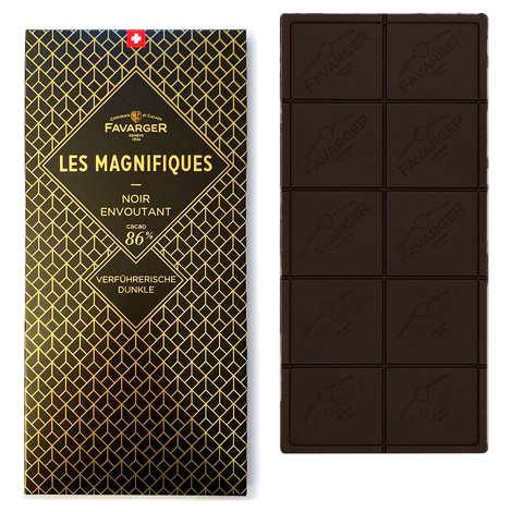 Favarger - Tablette chocolat noir 86% - Les Magnifiques