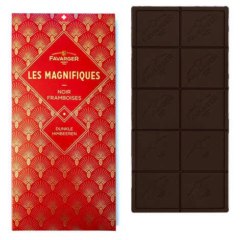 Favarger - Tablette chocolat noir et framboise - Les Magnifiques