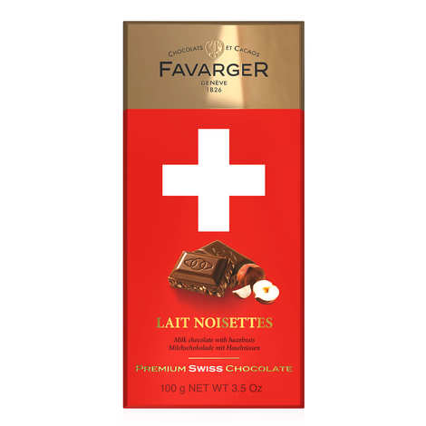 Favarger - Swiss chocolate bar with milk and caramelized hazelnuts