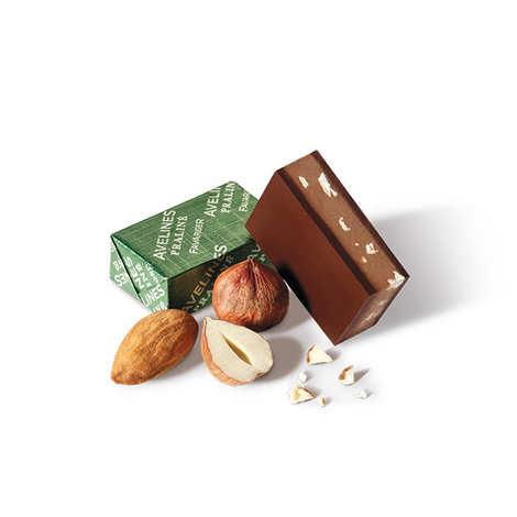 Favarger - Boîte 20 Avelines chocolat au lait suisse au praliné - Favarger