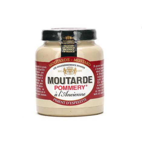 Les assaisonnements Briards - Moutarde au piment d'Espelette - Pommery